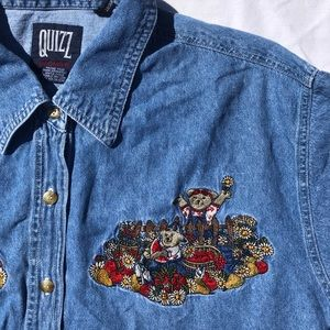Tops - embroidered button up